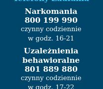 Telefon zaufania narkotyki narkomania